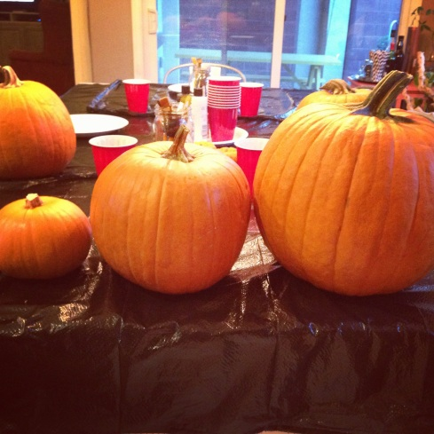 family of pumpkins